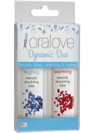 Oralove Dynamic Duo Lickable Warming And Tingling Lubes 1 Ounce 2 Each Per Set