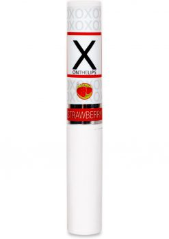 X On The Lips Buzzing Lip Balm With Pheromones Sizzling Strawberry .75 Ounce