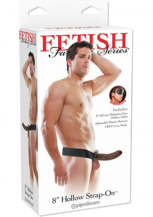 Fetish Fantasy Hollow Adjustable Strap On 8 Inch Brown