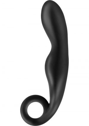 Anal Fantasy Collection One Finger Fantasy Silicone Plug Black 4.5 Inch
