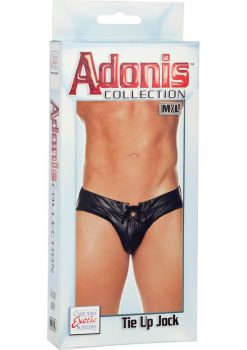 Adonis Tie Up Jock Strap Black Medium/Large