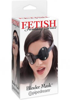 Fetish Fantasy Vinyl Blinder Mask Black