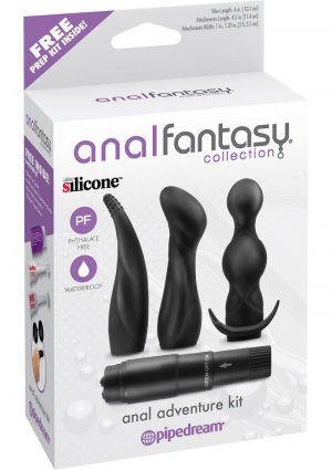 Anal Fantasy Silicone Anal Adventure Kit Waterproof Black