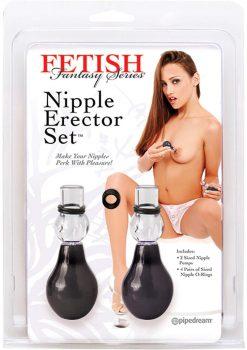 Fetish Fantasy Nipple Erector Set Black