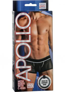 Apollo Mesh Boxer With C-Ring Black Medium/Large