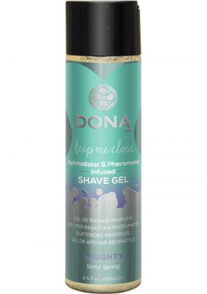 Dona Aphrodisiac and Pheromone Infused Shave Gel Naughty Sinful Spring 8.5 Ounce