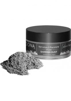 Dona Aphrodisiac and Pheromone Infused Shimmer Dust Silver .25 Ounce