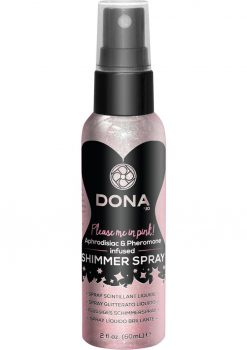 Dona Please Me In Pink Aphrodisiac and Pheromone Infused Shimmer Spray Pink 2 Ounce