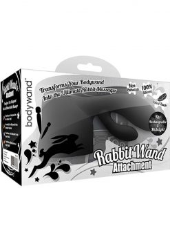 Bodywand Rabbit Wand Silicone Attachment Black