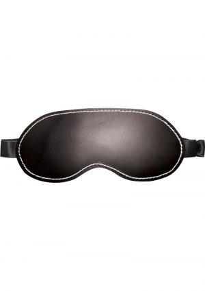 Edge Leather Blindfold Black