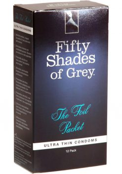 Fifty Shades Foil Packet Condoms 12 Pack
