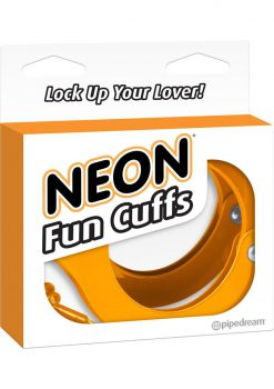 Neon Fun Metal Cuffs Orange