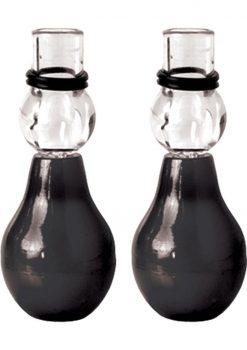 Fetish Fantasy Nipple Erector Pumps Set Black 2 Each Per Set