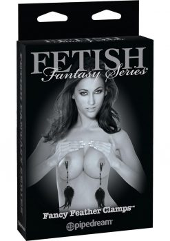 Fetish Fantasy Fancy Feather Clamps Black