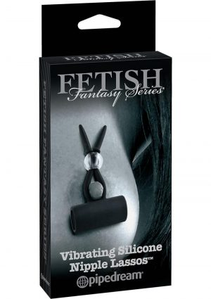 Fetish Fantasy Series Limited Edition Vibrating Silicone Nipple Lassos Black