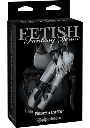 Fetish Fantasy Series Bowtie Cuffs Adjustable Black