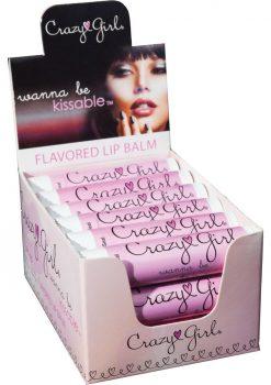 Crazy Girl Lip Balm Pink Cupcake 18/disp