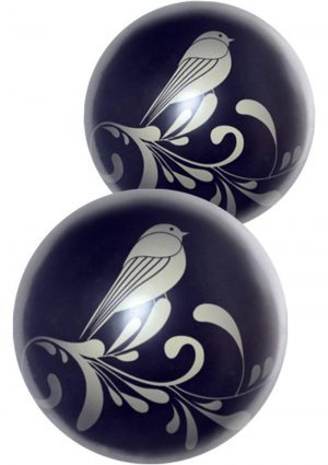 Fashonista Zen Wa Balls Kegal Exercisers Glass Black 2 Each Per Box