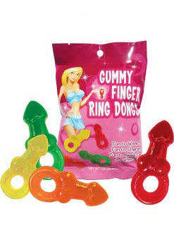 Gummy Finger Ring Dongs 12/disp