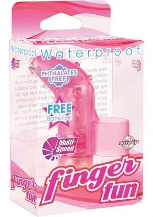 Finger Fun Massager Waterproof Pink
