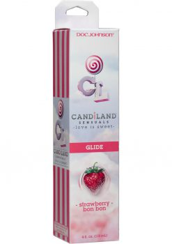 Candiland Sensuals Body Glide Strawberry Bon Bon 4 Ounce