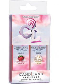 Candiland Sensuals Body Glide 2 Pack Whip Cream/Strawberry Bon Bon