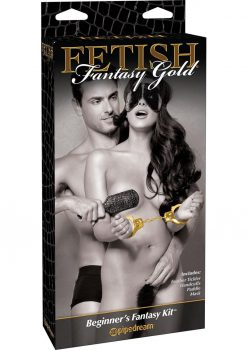 Fetish Fantasy Gold Beginner's Fantasy Bondage Kit Gold And Black
