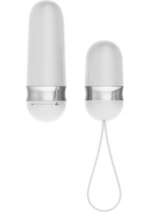 OVO R4 Silicone Rechargeable Bullet With Wireless Remote Showerproof White And Chrome