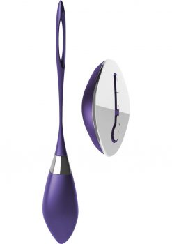 Ovo R6 Silicone Rechargeable Bullet With Wireless Remote Showerproof Purple And Chrome