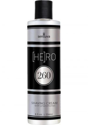 Hero 260 Shaving Cream With Pheromones For Men 8 Ounce