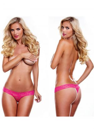 Secrets Vibrating Lace Thong Pink