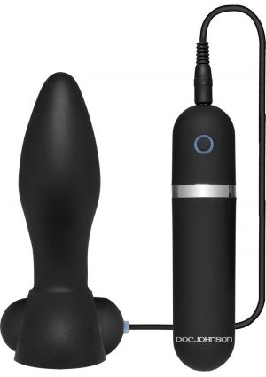 Platinum Premium Silicone The Touch Vibrating Anal Plug Waterproof Black 4.9 Inch