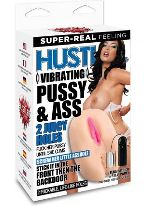 Hustler Tera Patrick Vibrating Pussy and Ass Masturbator With Remote Control Bullet