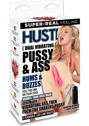 Hustler Memphis Monroe Dual Vibrating Pussy and Ass Masturbator With Remote Control Bullets