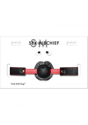 Sex and Mischief Hush Ball Gag Adjustable Strap 1.75 Diameter Ball