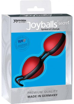 Joyballs Secret Dual Silicone Kegel Exerciser Red And Black