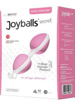 Joyballs Secret Dual Silicone Kegel Exerciser Rose And White