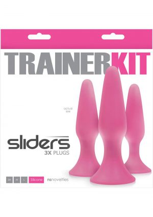 Sliders Trainer Kit Anal Plugs 3 Assorted Sizes Pink