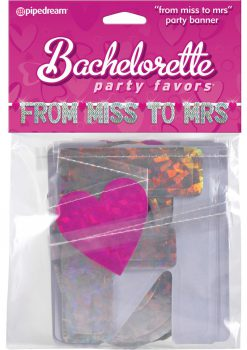Bachelorette Party From Miss To Mrs Banner
