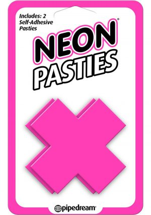 Neon Pasties X Shaped Self Adhesive Pink 2 Each Per Pack