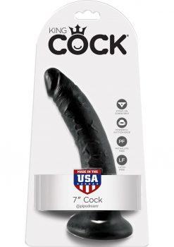 King Cock 7 Dildo Black