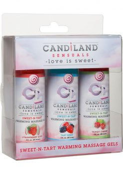 Candiland Sweet N Tart Warm Gel 3pk