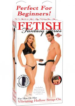 Fetish Fantasies Vibrat Hollow Strap On Black