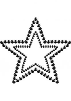 Bijoux Indiscrets Body Decorations Mimi Rhinestone Pasties Stars Black 2 Each Per Pack