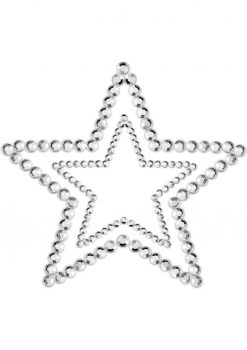 Bijoux Indiscrets Body Decorations Mimi Rhinestone Pastie Stars Silver 2 Each Per Pack