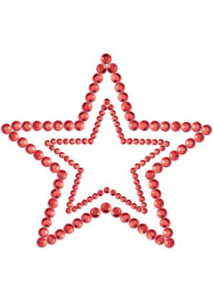 Bijoux Indiscrets Body Decorations Mimi Rhinestone Pasties Stars Red 2 Each Per Pack