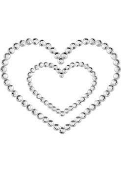 Bijoux Indiscrets Body Decorations Mimi Rhinestone Pasties Heart Silver 2 Each Per Pack