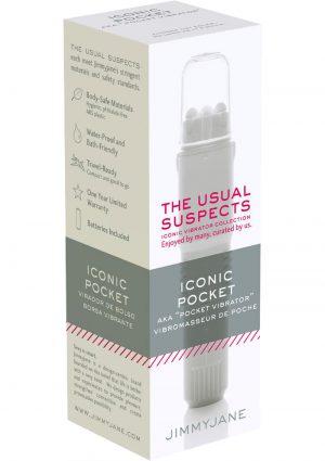 JimmyJane The Usual Suspects Iconic Pocket Vibrator Waterproof White