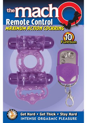Macho Remote Control Cockring Purple