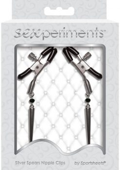 Sexperiments Silver Spears Adjustable Nipple Clips